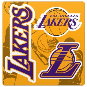 Zestaw Magnesów Los Angeles Lakers